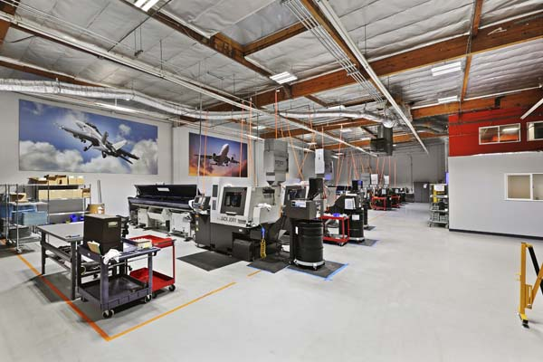 A look inside the factory at Elite Aviation Products. Image courtesy of Elite Aviation Products.