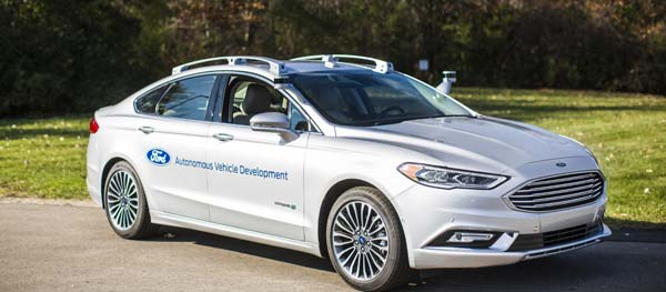 Ford introduced its next-generation Fusion Hybrid autonomous development vehicle at CES 2017 and the North American International Auto Show in January. The new vehicle uses the current Ford autonomous vehicle platform with new computer hardware and upgraded processing power. Its LiDAR sensors have a sleeker design and more targeted field of vision. Image courtesy of Ford Motor Company.