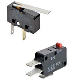Omron Electronic Components recently introduced its SS-3FP/SS-5F Subminiature Basic Switch  and its V-21-1C6 (IN) Miniature Basic Switch