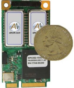 Alta Data dual channel Mini PCI Express Interface Card for MIL-STD-1553 networks