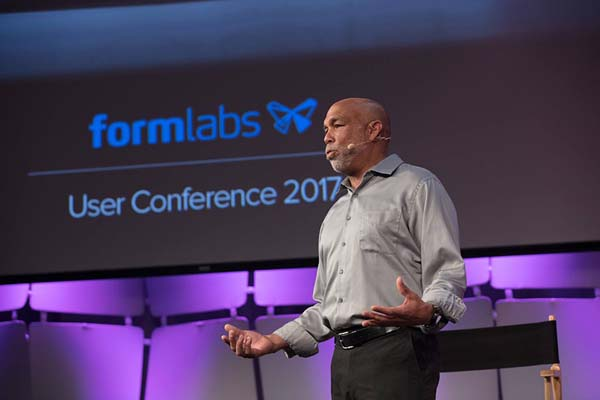 Lyman Connor founder of the not-for-profit organization Handsmith speaks at FUSE Formlabs Digital User Conference