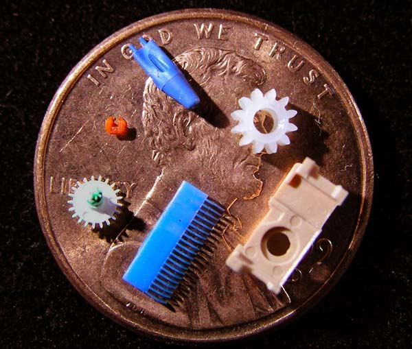 These parts provide a sense of the size and the wide range of micro injection molded parts that Makuta Technics manufactures